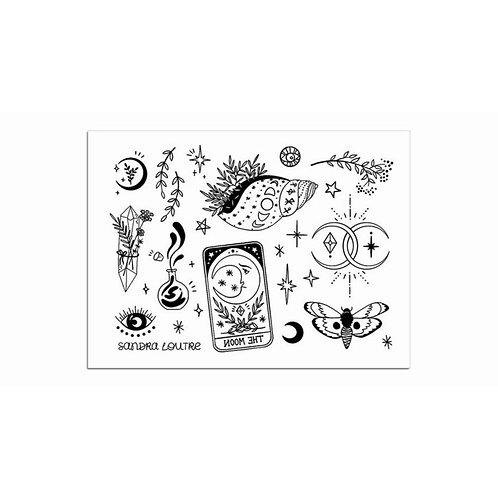 Mini Talisman / 1 Blatt mit div. Motiven