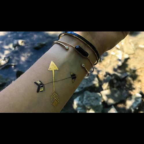 Goldene Pfeile / 5 Stück NonPermanent Tattoo