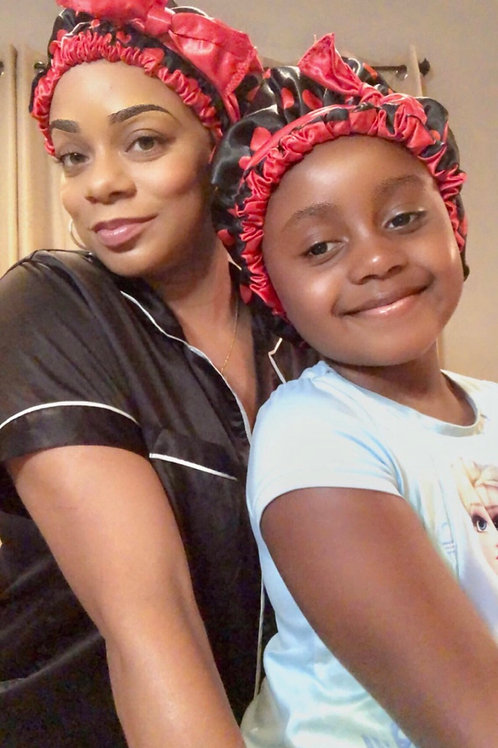 Mommy & Me Reversible Satin Crown Set