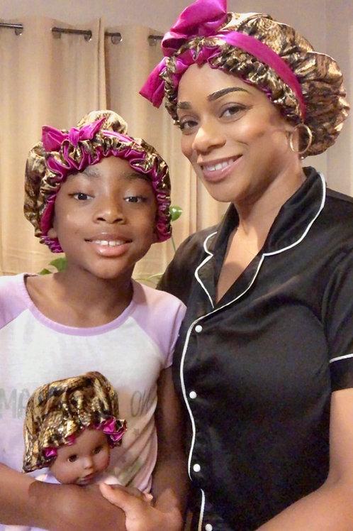 Mommy & Mini Me Reversible Satin Crown Set
