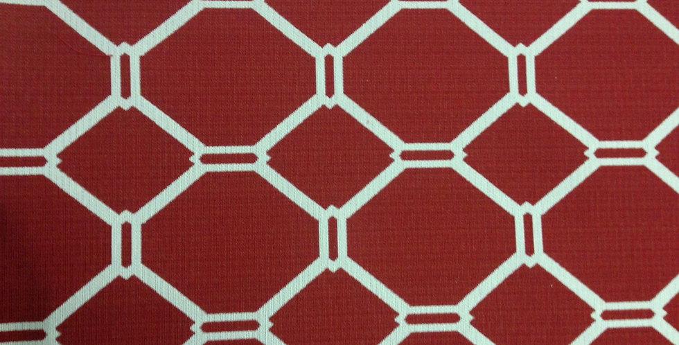 Red and White - Modern Geometric Red Izelli