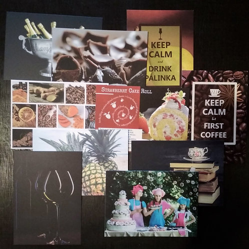 Gastronomy (10) - Bundle of 10 postcards
