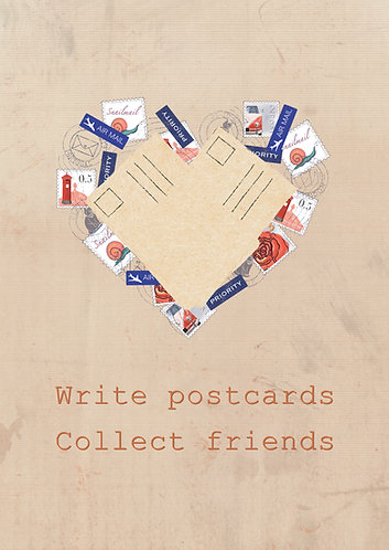 Collect friends - postcard