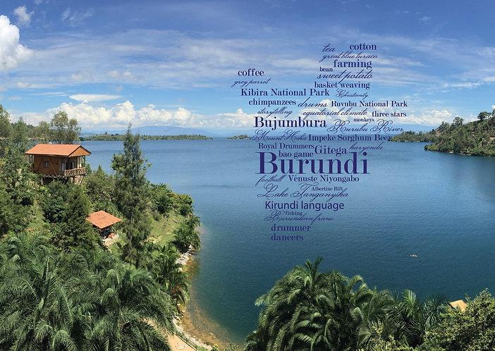Burundi WordCloud postcard