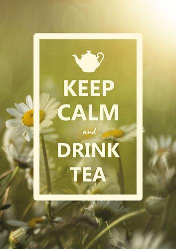 """Keep Calm & drink tea"" Postcard"