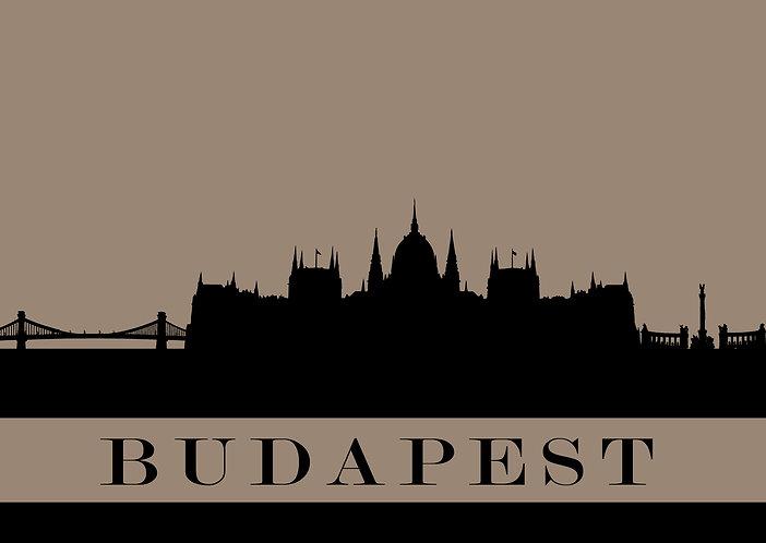 Budapest - City Silhouette Postcard