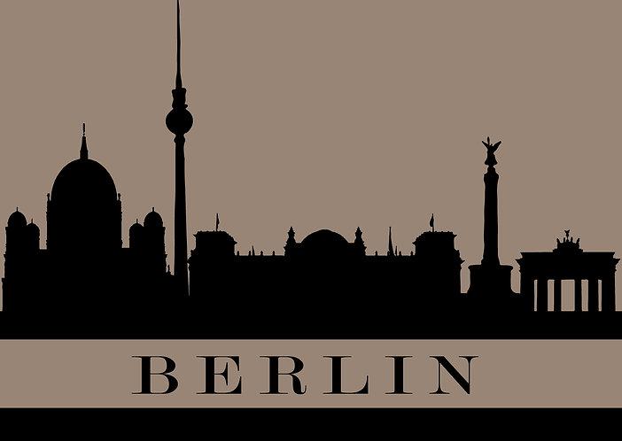 Berlin - City Silhouette Postcard
