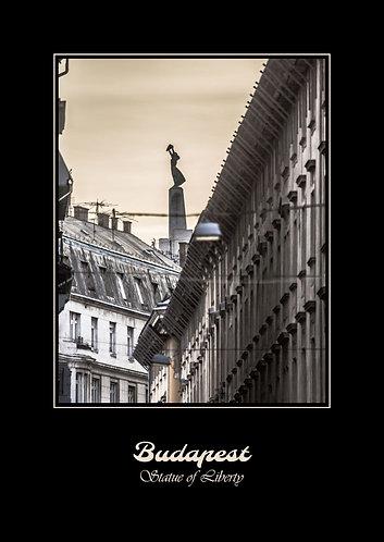 Szabadságszobor Budapesten képeslap
