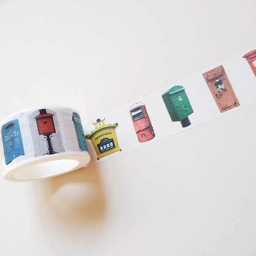 Post boxes washi tape