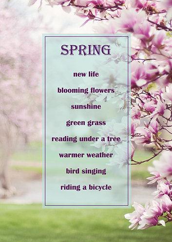 Spring - postcard