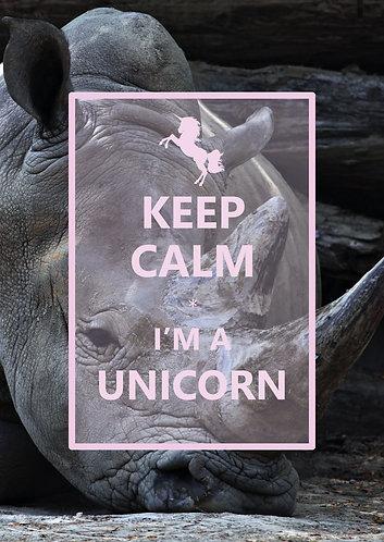 """Keep Calm I'm a Unicorn"" Postcard"