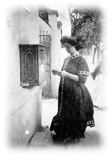 Letter arrived... - Vintage Photo Postcard
