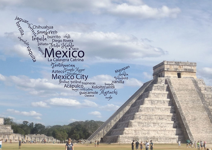 Mexico WordCloud Postcard by PostcardSisters