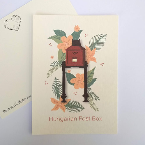 Hungarian Post Box - postcard