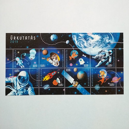 Space research - Hungarian stamp sheet