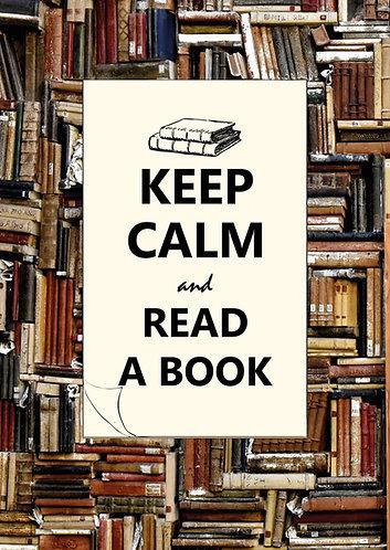 """""""Keep Calm & read a book"""" Postcard"""