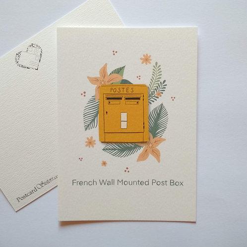 French Post Box - postcard
