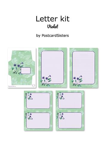 Violet - Printable letter writing kit