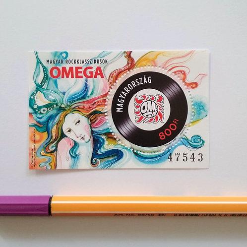 Omega: Gyöngyhajú lány - bélyegblokk