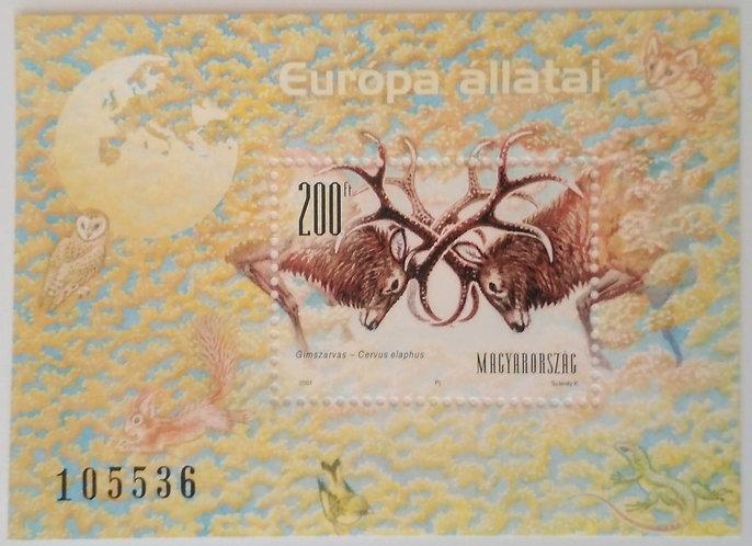 Red deers - Stamp mini-sheet
