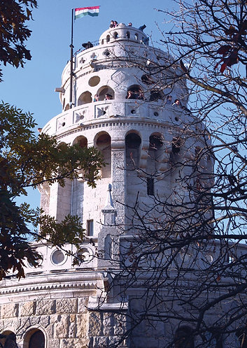 Lookout Tower in Budapest - Postcard