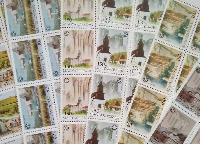 UNESCO World Heritage Sites - Hungarian Stamps