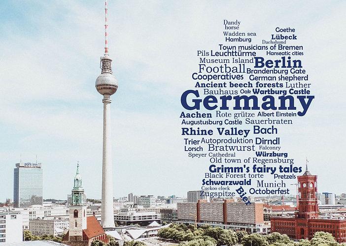 Deutschland Wortwolke Postkarte
