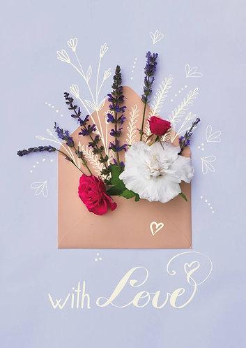 Flower-filled Letter - Postcard