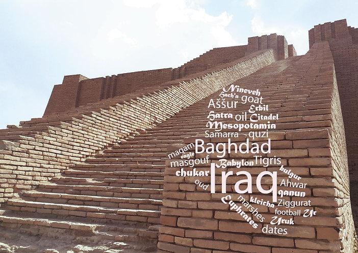 Iraq Word Cloud Postcard by PostcardSisters