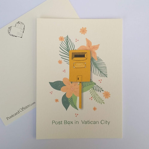 Vatican Post Box - postcard