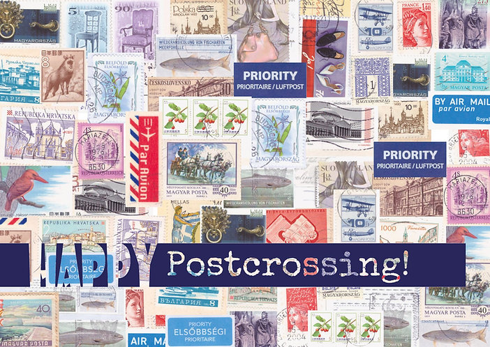 """Happy Postcrossing!"" postcard"
