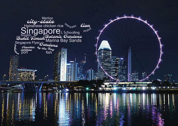 Singapore WordCloud Postcard by PostcardSisters