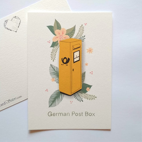 German Modern Post Box - postcard
