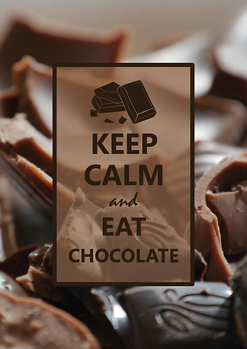 """Keep Calm and Eat Chocolate"" - Postcard"