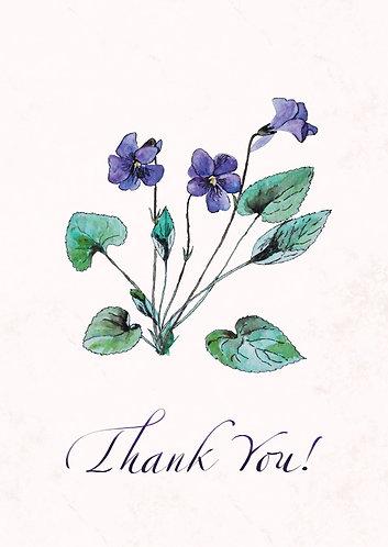 Violet - Thank You Postcard