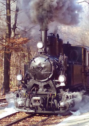Steam Engine Locomotive - Postcard