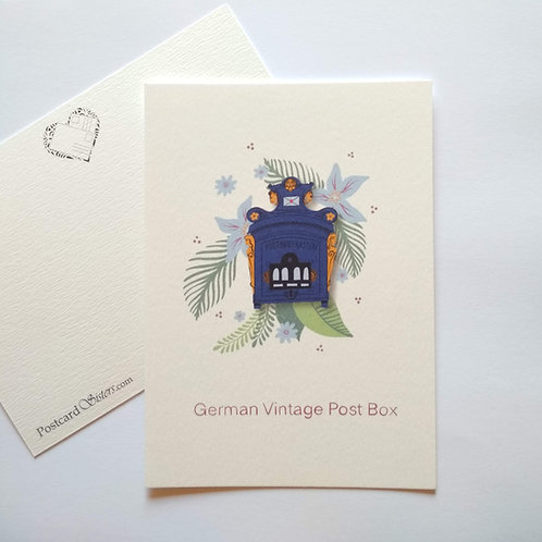 German Vintage Post Box - postcard