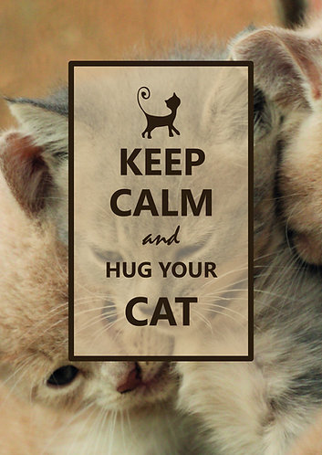 """Keep Calm & hug your cat"" Postcard"