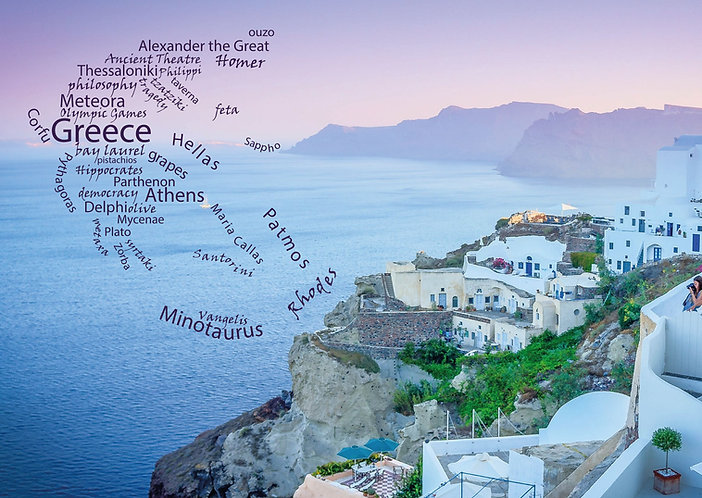 Greece WordCloud Postcard by PostcardSisters