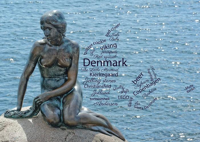 Denmark - WordCloud Postcard