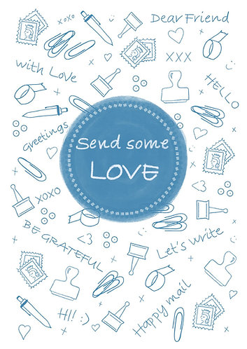 Send some LOVE - Postcard