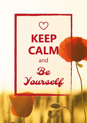 """Keep Calm & be yourself"" Postcard"