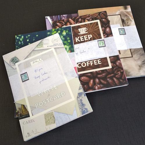 'Keep Calm...' (10) - Postcard Bundle of 10 postcards