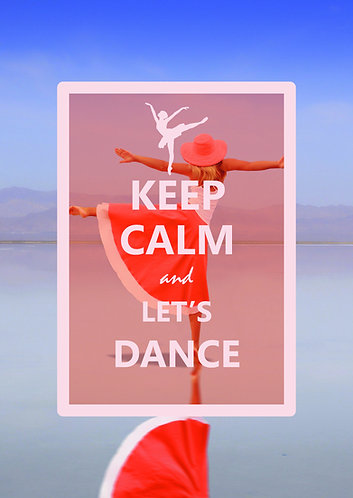 """Keep Calm & let's dance"" Postcard"