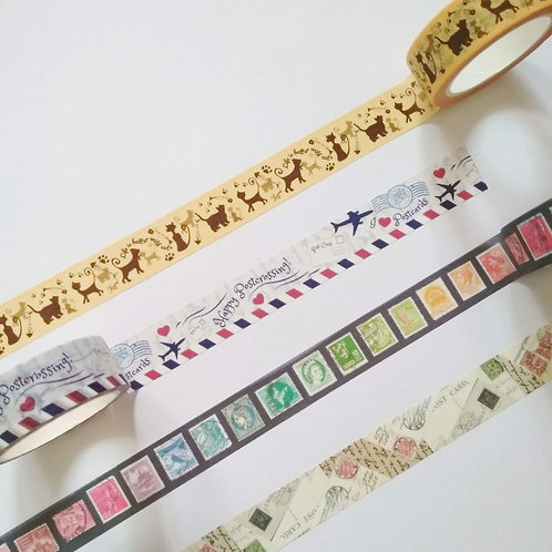 Assorted Washi tape Grab Bag of 4 rolls