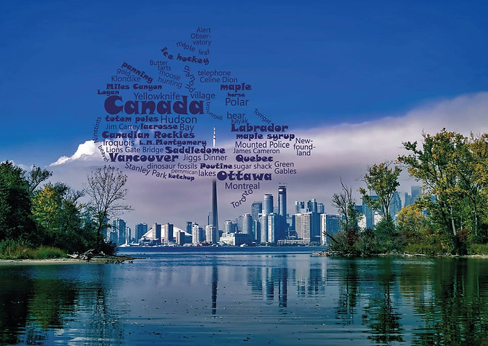 Canada WordCloud postcard