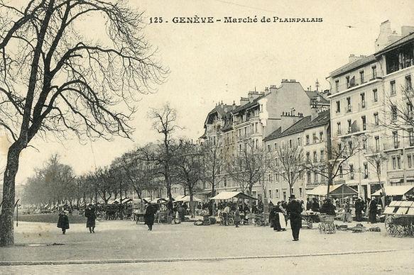 Nostalgie de la plaine de plainpalais et de son marché au puces à Genève