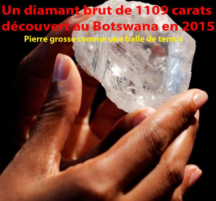 Diamant du Botswana découvert en 2015