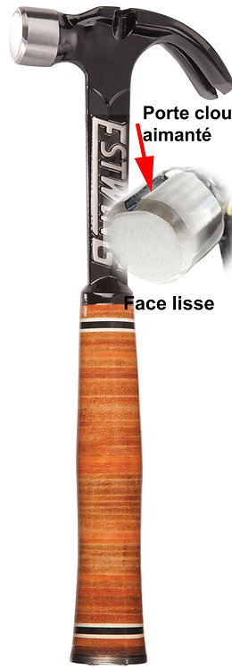 Marteau Estwing ultra courbe manche cuir E15CR