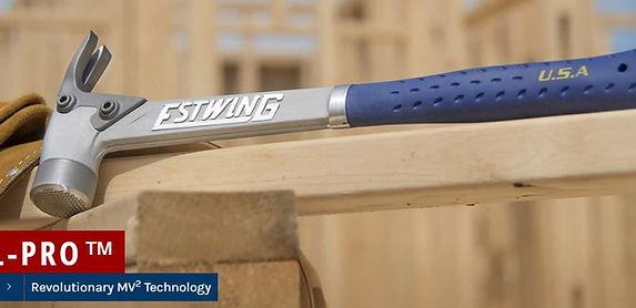 Un outils de charpentier révolutionnaire, le marteau Estwing AL-PRO en alliage d'aluminium